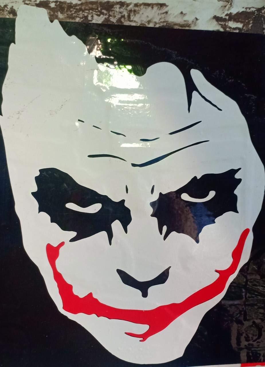 Lionston joker smiling face sticker for all bikes 11 5x11 5