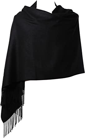 Quality Cashmere Blend Plain Colour Pashmina Scarf Shawl