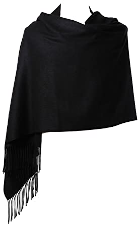 "b920cbb64679b Womens Pashmina Shawl Wrap Scarf - Ohayomi Solid Color Cashmere Stole Extra  Large 78""x28"""