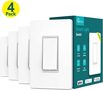 4-Pack Treatlife Single Pole WiFi Smart Light Switch