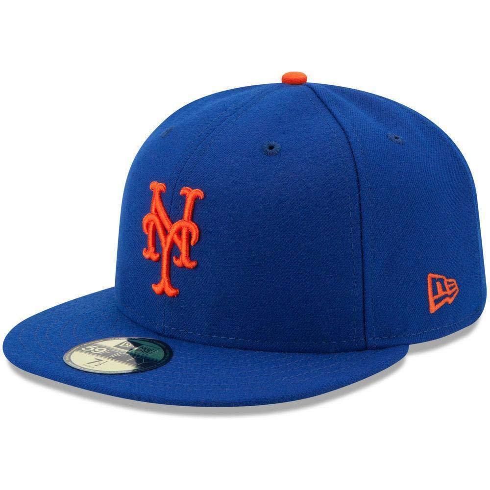 New Era New York Mets Cap NY Royal 5950 Basic Fitted Team Basecap 6 7//8-8