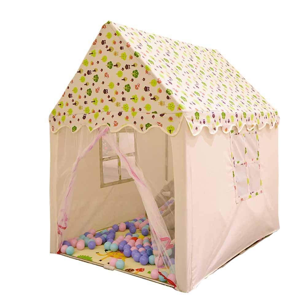 子供のテント屋内ゲーム玩具ハウスガールベビーキャッスルホームプリンセスルーム綿布プレイハウス B07TP5YFKJ a 110*140*150cm