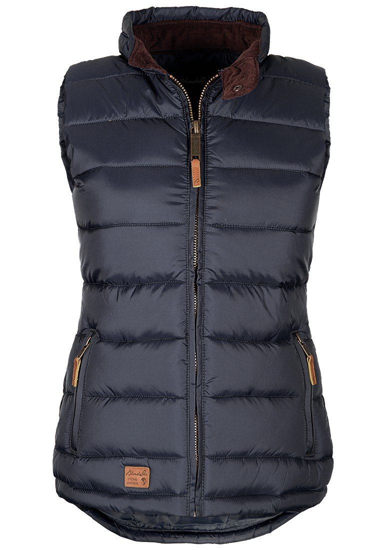 BlendShe Camilla Women's Quilted Gilet Vest Body Warmer with Funnel Neck