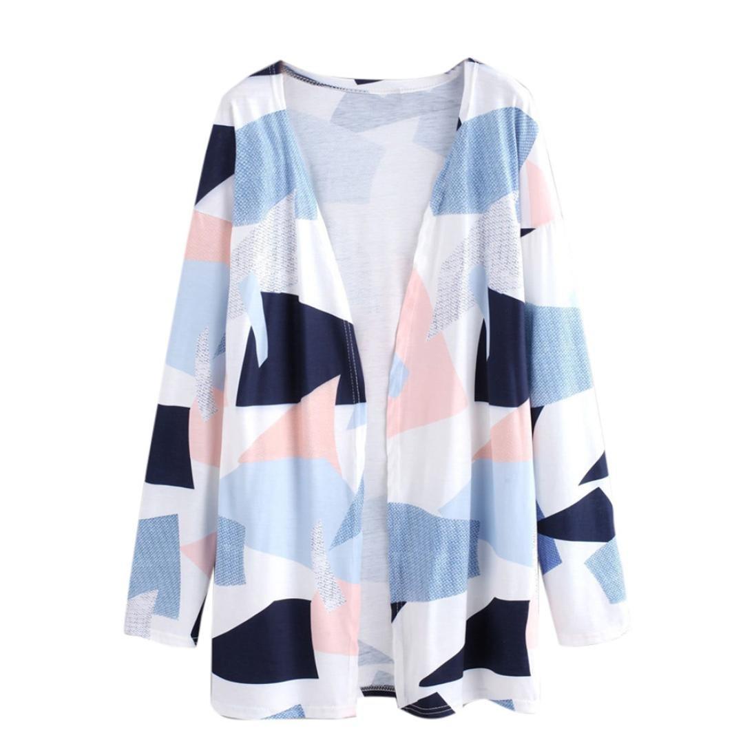 BCDshop Fashion Women Print Loose Shawl Kimono Cardigan Top Cover up Shirt Blouse (M) by BCDshop
