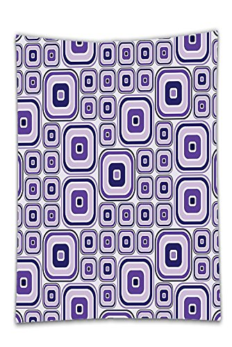 Interestlee Satin drill Tablecloth?House Decor Collection Rectangle Pattern and Different Sizes Shades Small Big Creativity Artwork Pattern Dark Violet Lilac Dining Room Kitchen Rectangular Table Cove
