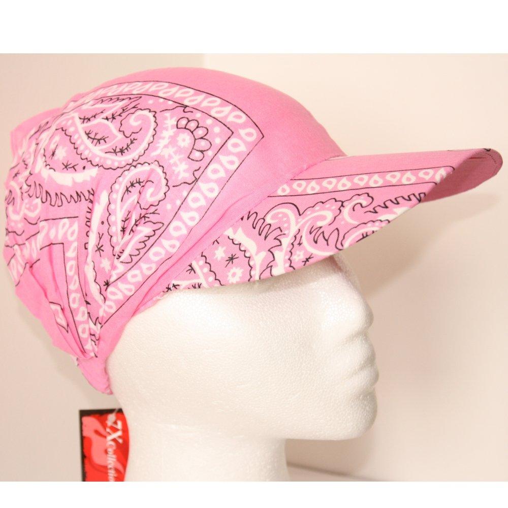 Black White Paisley Peaked Cap Sun Visor Hat with Peak TC-Accessories