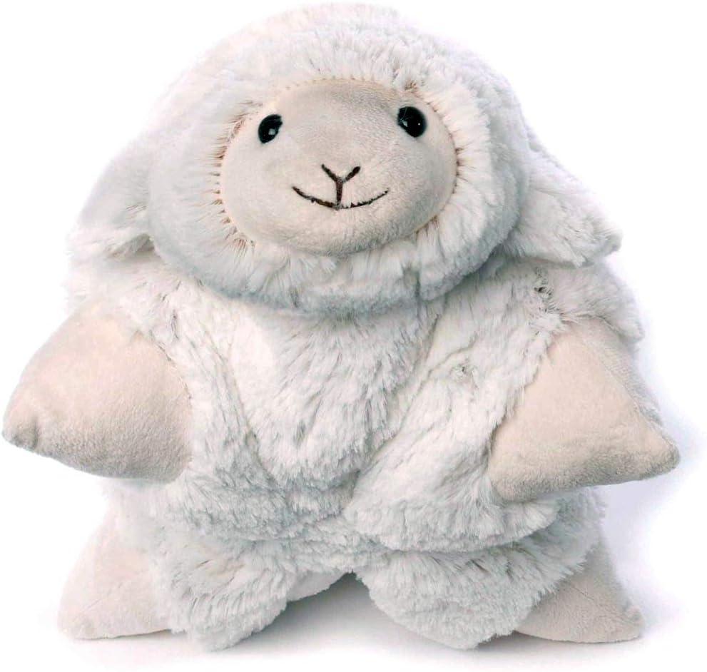 Kuschelkissen mit Klettverschluss 35 x 25 cm creme//meliert Inware 5960-2in1 Schmusekissen und Kuscheltier Schaf