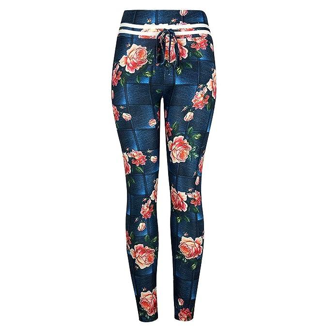 Leggings Yoga Mujer Pantalones, YpingLonk Digital Raya Imprimiendo ...