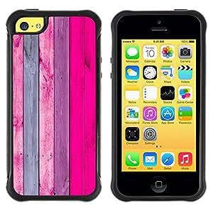 Hypernova Defender Series TPU protection Cas Case Coque pour Apple iPhone 5C [Rose Pourpre Lines Wood Texture]