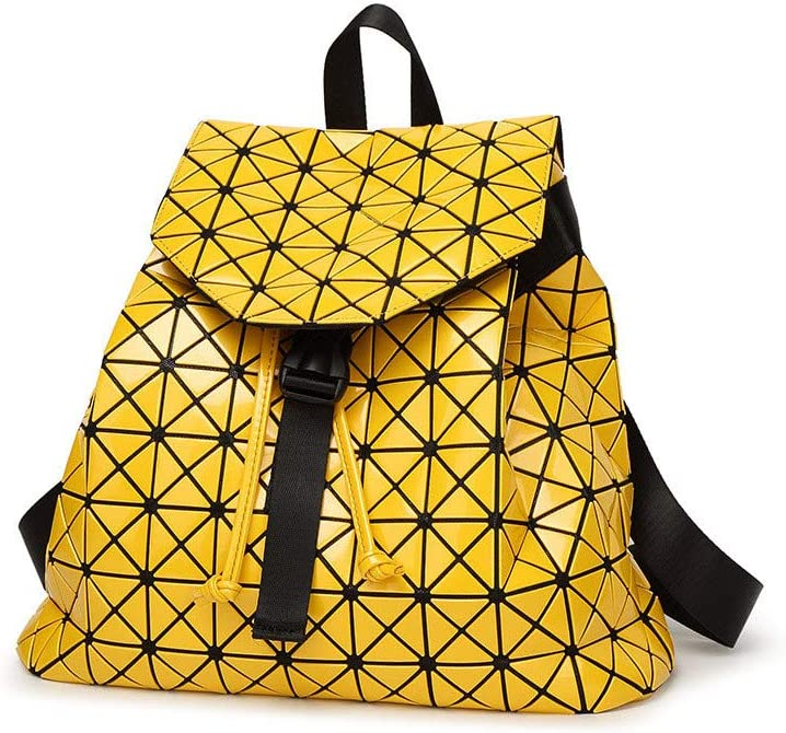 Backpack knapsack Rucksack Infantry Pack Field Pack,Rhombus Mosaic Cube Fashion Outdoor Backpack