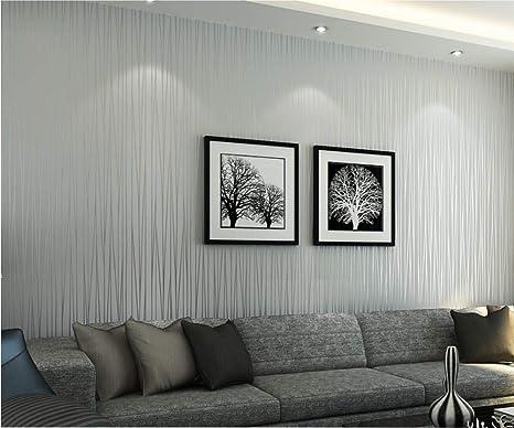 Vliestapete Vertikale Streifen 3D silbernes Grau Tapete ...