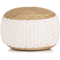 vidaXL Woven/Knitted Pouffe Modern Home Living Room Bedroom Office Foot Rest Stool Seating Seat Ottoman Sitting…