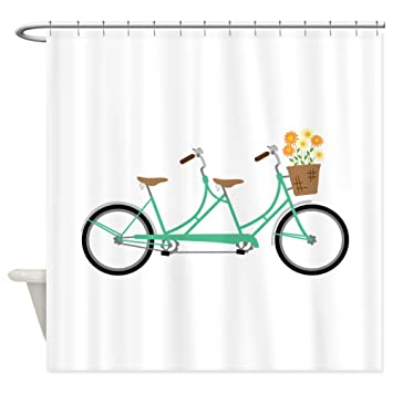 Amazon CafePress Tandem Bike Shower Curtain Decorative Fabric