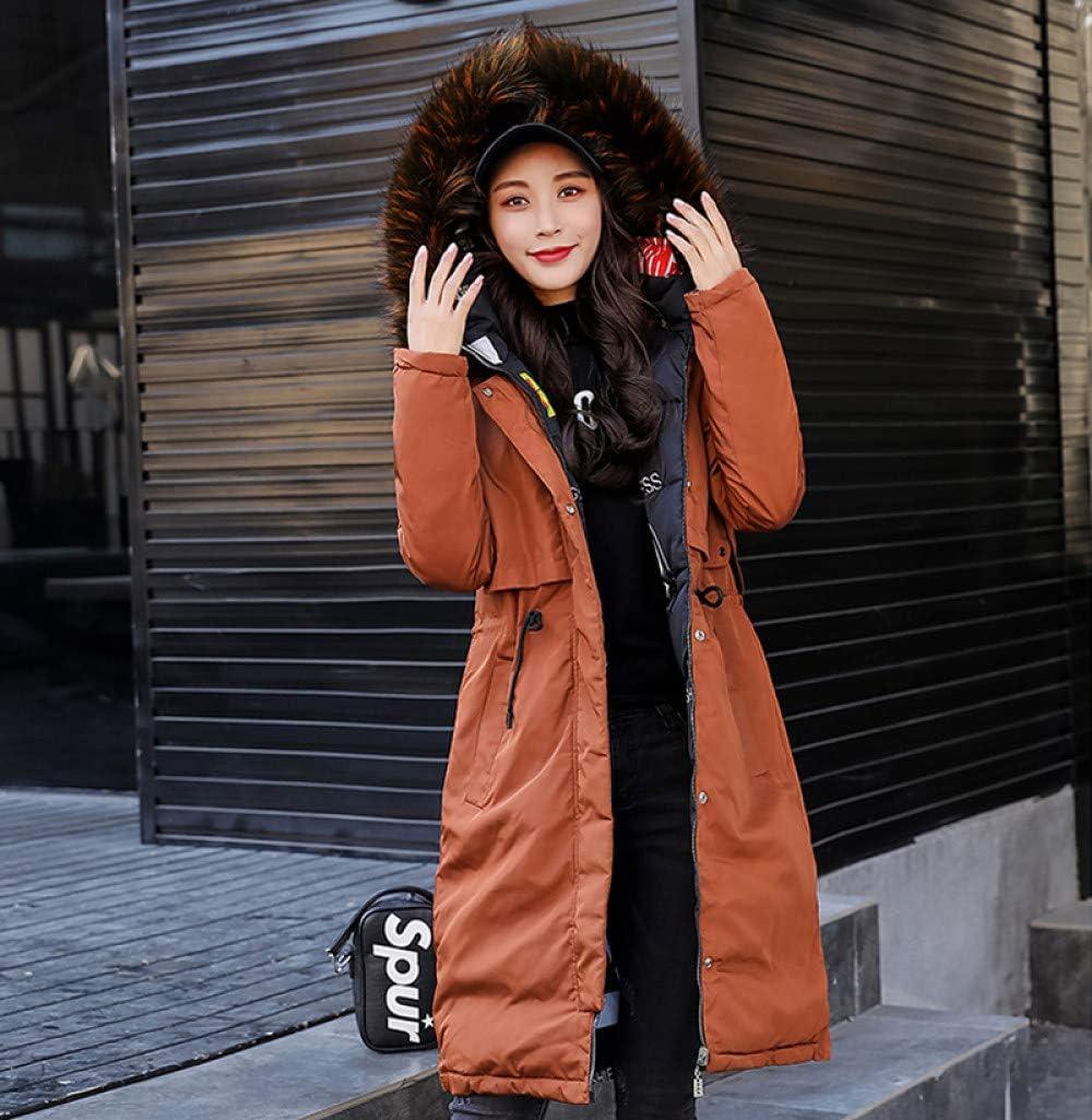 WJINNSH Manteau,Nouvelle Arrivée Hiver Veste Femmes Long Coton Rembourré Survêtement Femmes Manteau Parka avec Coloré Femme À Capuchon Vestes marron