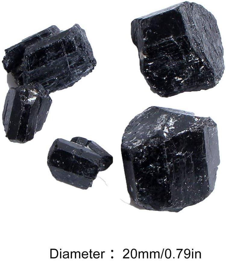 couleur: noir Tourmaline noire naturelle Stone Rock Mineral Pierres et min/éraux naturels Particules de tourmaline noire naturelle Granul/és bruts bruts /& taille: 50g