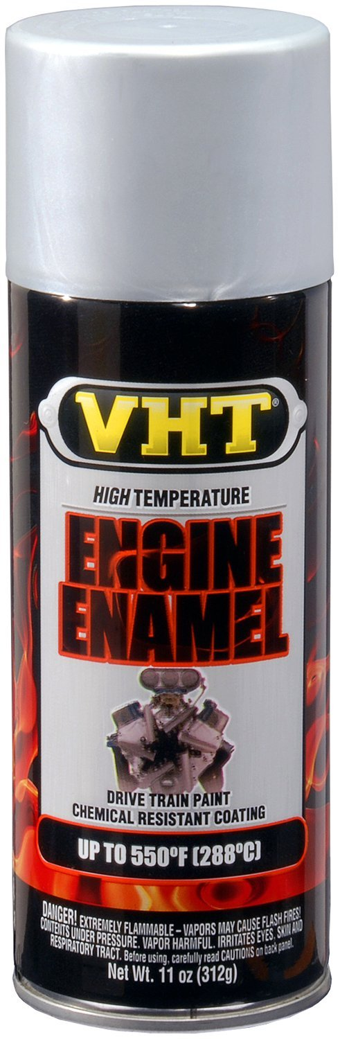 VHT SP995-6 PK (ESP995007-6 PK) Nu-Cast Aluminum High Temperature Engine Enamel - 11 oz. Aerosol, (Case of 6) by VHT (Image #1)