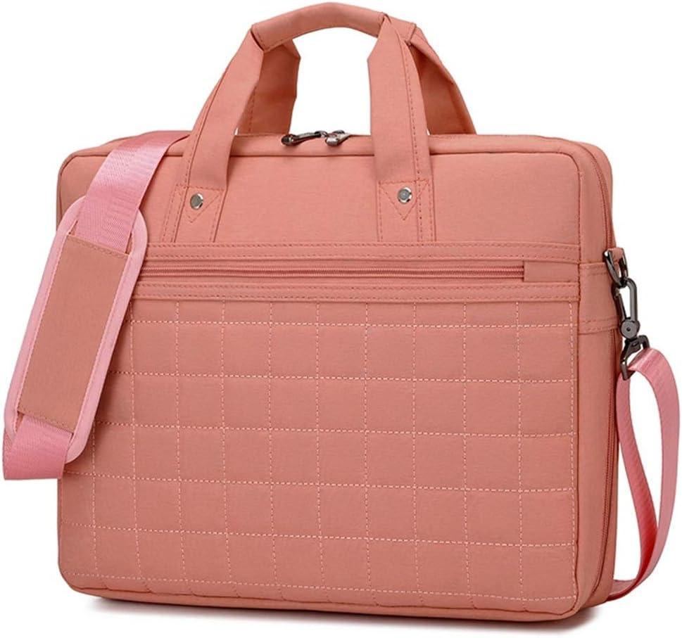 Color : Pink, Size : 14inch Lorachun Unisex Business Computer Bag Large Capacity Shoulder Bag Shoulder Bag