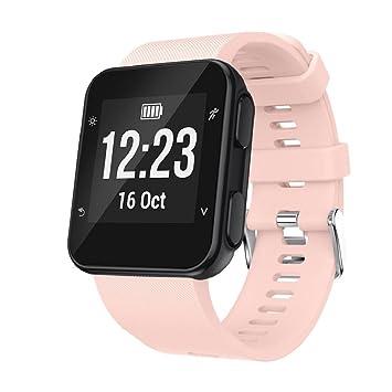 Correa de repuesto de silicona para reloj inteligente Garmin Forerunner 35., color rosa: Amazon.es: Deportes y aire libre