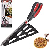 W.H.M.S 11 inch Stainless Steel Pizza Scissors, Replace Your Pizza Cutter, Sharp Scissors Let You Easily Taste Serves Hot Pizza