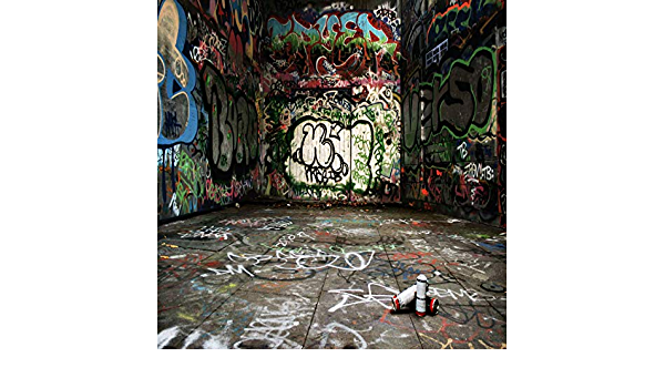 Zhy 90/'S Backdrop Hip Hop Graffiti Brick Wall Retro Radio Fashion Photography Background 7X5ft Vinyl Back to The 90/'S Themed Party Banner Decoration Backdrops