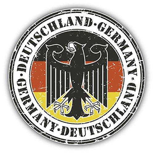 Germany Deutschland Grunge Stamp Car Bumper Sticker Decal 5