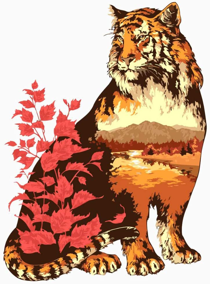 ADVLOOK Pintura Painting by Numbers Adultos Lince Animal Pintado A ...