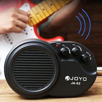 YGQersh Amplificador de guitarra eléctrica con mini amplificador y control de distorsión del tono de volumen - Negro: Amazon.es: Instrumentos musicales