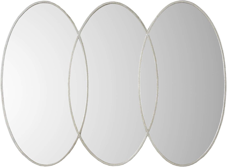 MADISON PARK SIGNATURE Eclipse Decor Mirror Antique Silver See Below
