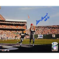 $51 » Steve Largent Autographed Seattle Seahawks 8x10 Touchdown Photo w/HOF - Beckett W Auth Blue