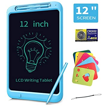 NOBES 12 Pulgadas Tableta de Escritura LCD Almohadilla con Llave de Bloqueo Tablero de Dibujo Pizarra para Niños Gráfico Electrónico para la Oficina ...