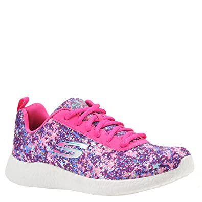 0882c782a7 Skechers Sport Women's Burst Illuminations Fashion Sneaker,Pink/Multi,5.5