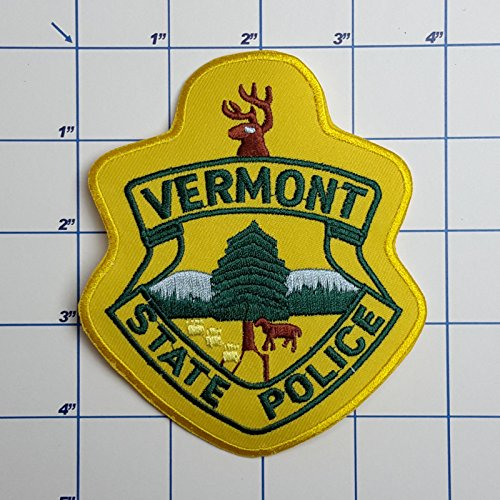 (SNOW - 1 PC US Police Patches - Full Size Embroidered Iron-On Patch Series - Vermont State Police )