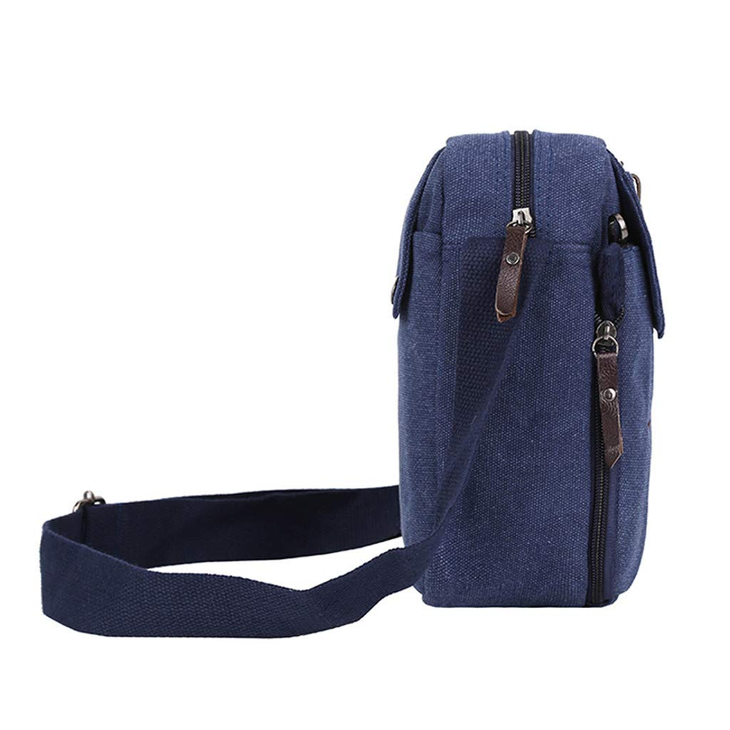 DENER❤️ Men Canvas Multifunction Shoulder Crossbody Bag Messenger Bag Sports Bags Travel Bags