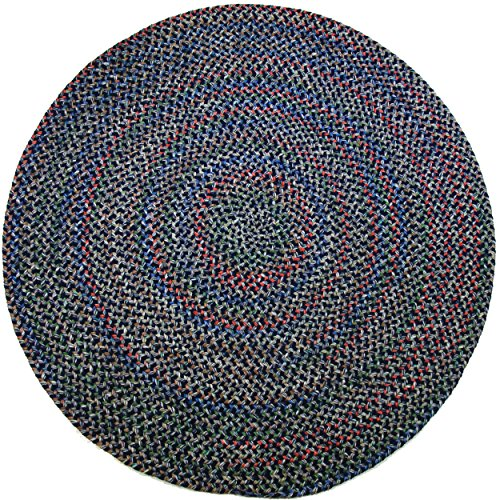 Katherine Multi Round Indoor/Outdoor Braided Rug, 6-Feet, Navy - Multi Outdoor Rug