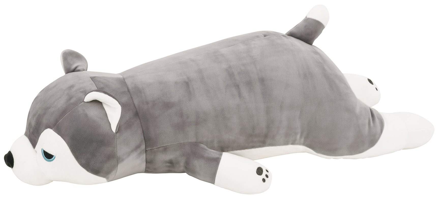 Comolife Cute Dog 'Husky' Plush Soft & Comfortable Body Pillow , Size : W23.79 x D12.48 x H7.8 Inch