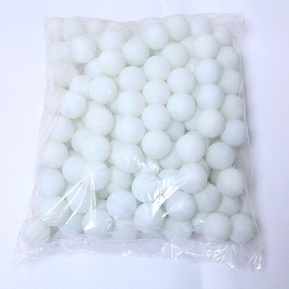 Coface 150pcs Scrub balles de ping pong balle de ping pong balle de loterie Blanc