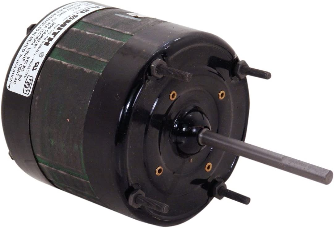 A.O. Smith 657 1/20 HP, 1550 RPM, 1 Speed, 4-5/16-Inch Frame, CWLE Rotation, 5/16-Inch x 3-5/8-Inch Shaft OEM Direct Replacement