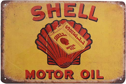 SHELL MOTOR OIL GARAGE METAL SIGN 2 Sizes Available ideal for pub bar Man Cave