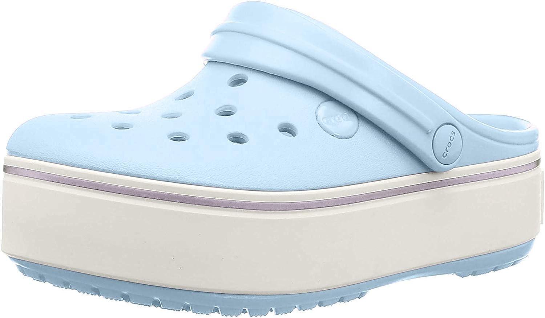 Crocs Crocband Platform Clog mineral Blue//Lavender 12 M US Little Kid