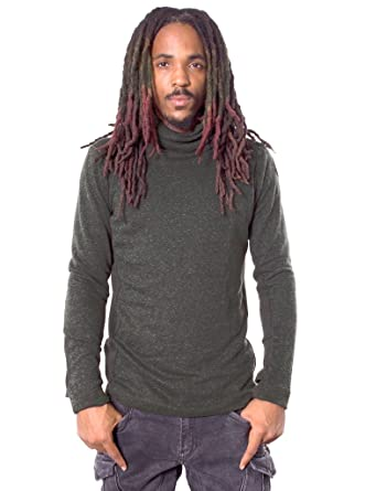 99281c72a2 Street Habit Men s Comfy Pullover Sweater - Fine Poly-Cotton Sweatshirt  with Loose Turtleneck at Amazon Men s Clothing store