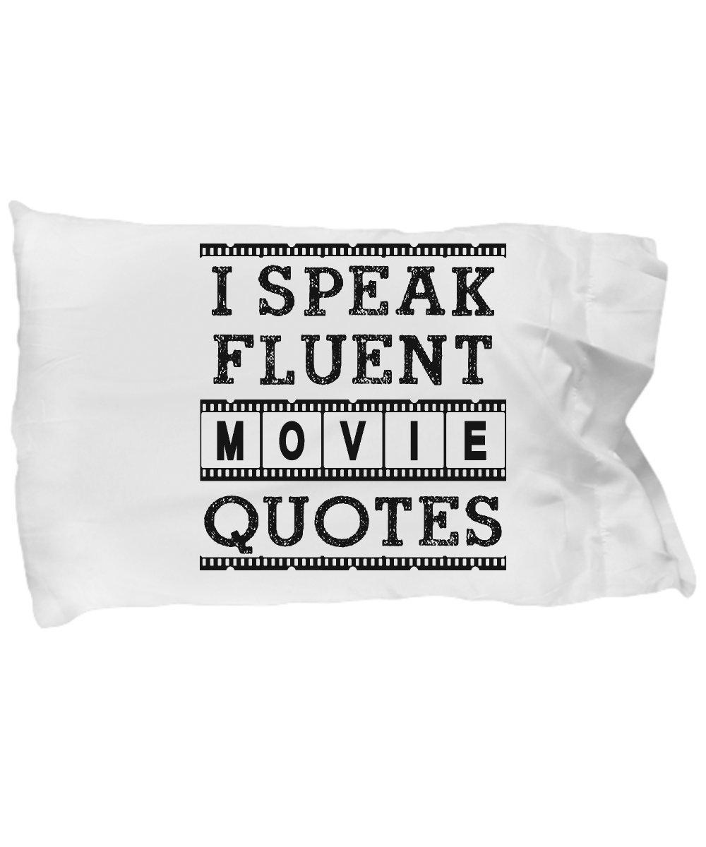 Funny Novelty Gift For Movie Lover I Speak Fluent Movie Quotes Best Music, Songs, Lyrics Pillow Case