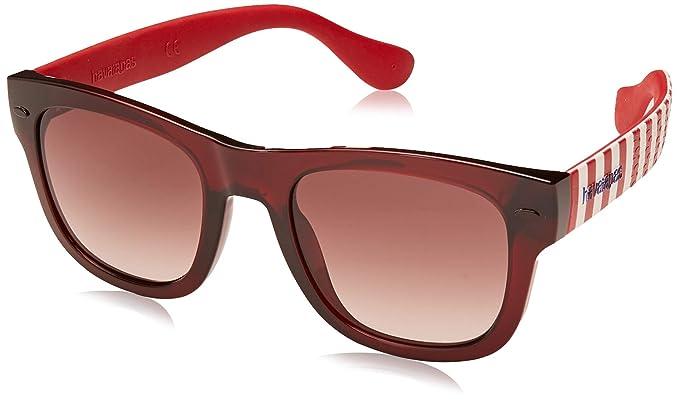 Havaianas Paraty/M Gafas de Sol, Multicolor (Dkred Str), 50 ...