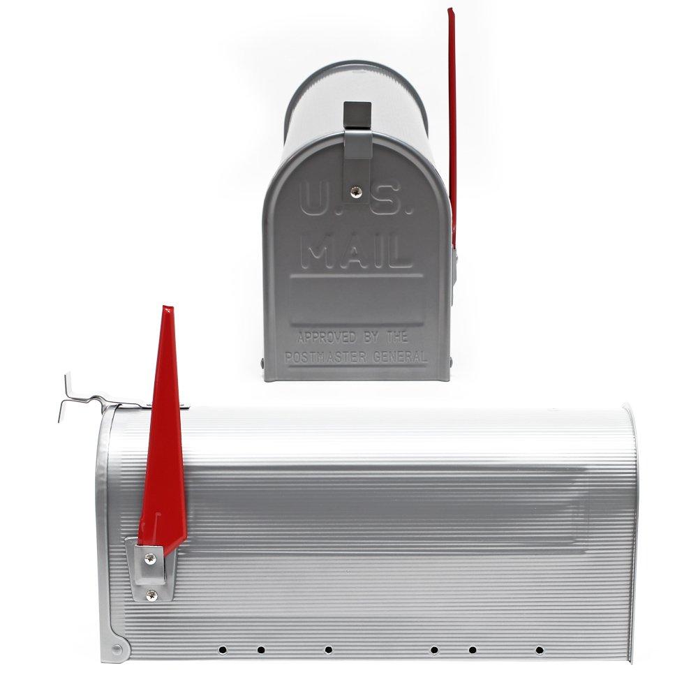 US Mailbox Amerikanisches Design silberfarben Briefkasten Standbriefkasten