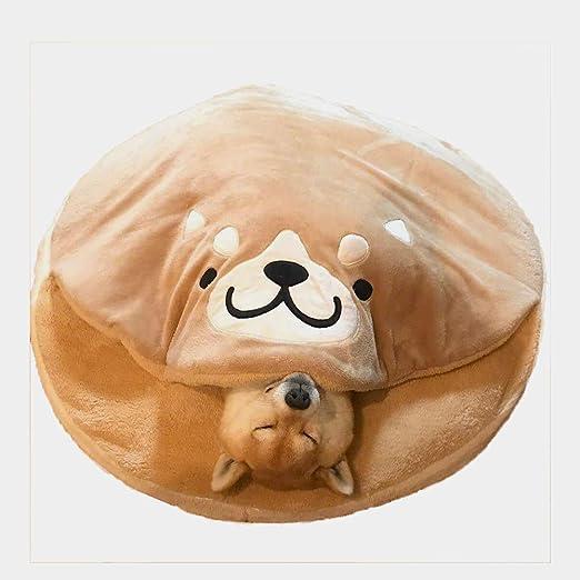 YOCC Casa para Mascotas y sofá, Cama para Mascotas Shiba Inu/Cojín Suave Ultra Suave/de Interior Cálido para Mascotas Perro Gato Dormir Grande Mascota ...