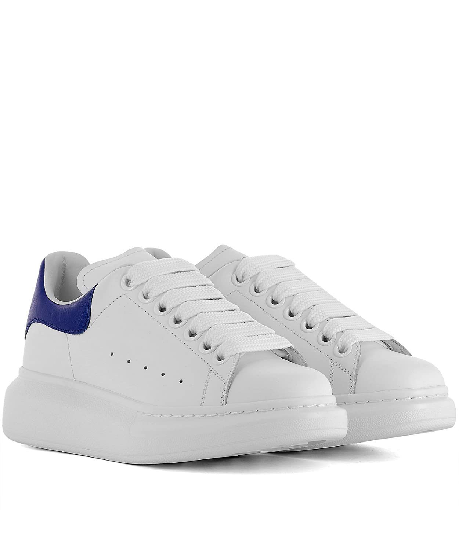 c5b47e60d6dc Alexander McQueen Femme 462214WHFBU9086 Blanc Cuir Baskets  Amazon.fr   Chaussures et Sacs