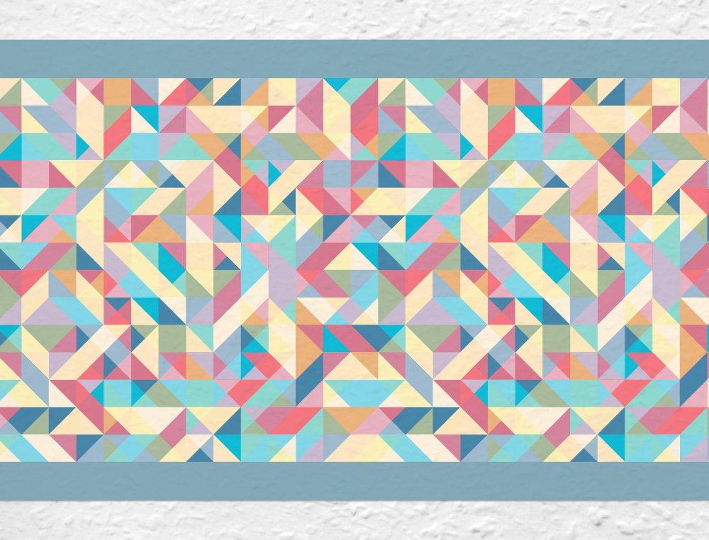 """I-love-Wandtattoo b-10140 - frontera """"formas de colores"""", Deco de la pared pegatinas de pared pegatinas de pared Adhesivos de pared"""