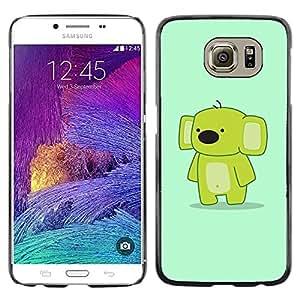TopCaseStore / la caja del caucho duro de la cubierta de protección de la piel - Funny Cute Friendly Koala - Samsung Galaxy S6 SM-G920