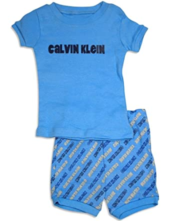 Calvin Klein - Little Boys Short Sleeve Shorty Pajamas, Light Blue 31311-3T