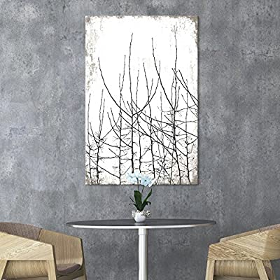 Made With Love, Fascinating Technique, Tree Branches on Rustic Background