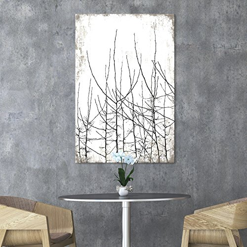 Tree Branches on Rustic Background
